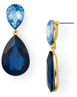 Aqua Double Teardrop Earrings - 100% Exclusive