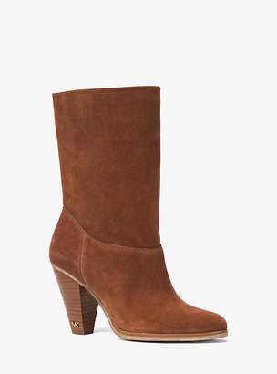 Michael Kors Divia Suede Ankle Boot