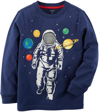 Carter's Astronaut in Space Long Sleeve Graphic Tee - Preschool Boy