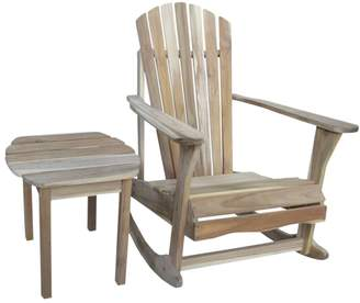 Adirondack International Concepts 2-piece Natural Rocking Chair & Side Table Set