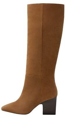 MANGO Leather high-leg boots