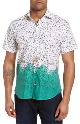 Jared Lang Slim Fit Beach Sport Shirt