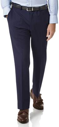 Charles Tyrwhitt Royal Blue Slim Fit Performance Suit Wool Stretch Pants Size W34 L34
