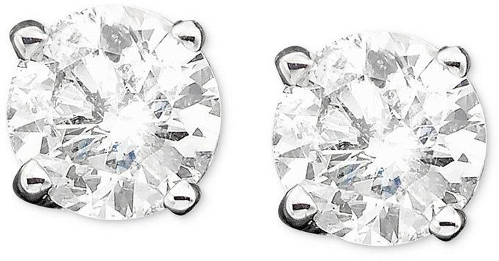 Diamond Stud Earrings in 14k White Gold (1/2 ct. t.w)