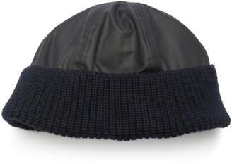 Lanvin Paneled Wool Beanie