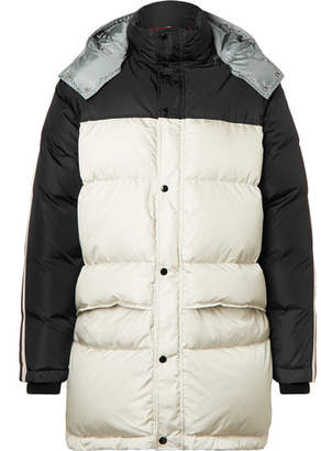 Gucci Webbing-Trimmed Quilted Shell Hooded Down Jacket - Men - Black
