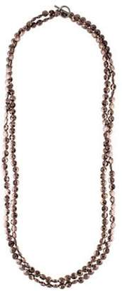 Brunello Cucinelli Long Bead Strand Necklace silver Long Bead Strand Necklace