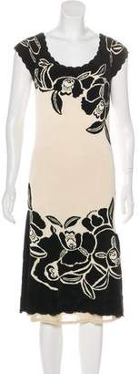 Temperley London Floral Pattern Midi Dress