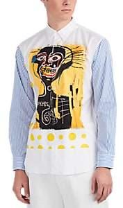 Comme des Garcons Men's Graphic Cotton Shirt - White