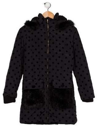 Little Marc Jacobs Girls' Faux Fur-Trimmed Coat