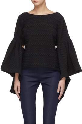 Leal Daccarett 'Cana' flared ruffle drape sleeve top