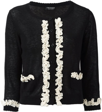 Twin-Set frill detail cardigan $148.65 thestylecure.com