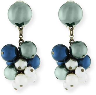 Oscar de la Renta Pearly Vine Clip-On Earrings