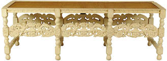 One Kings Lane Vintage Late 19th-C. Italian Carved Bench - The Barn at 17 Antiques
