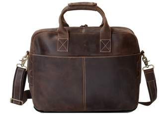 EAZO - Old Leather Laptop Messenger Bag in Brown