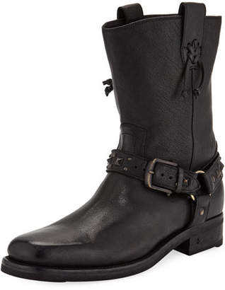John Varvatos Men's Berlin Leather Harness Boots