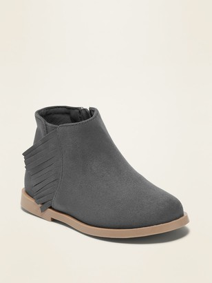 Old Navy Faux-Suede Side-Fringe Booties for Toddler Girls