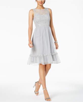 Adrianna Papell Beaded A-Line Dress