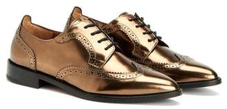 Aquatalia Gwen Metallic Leather Wingtip Oxford