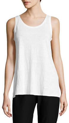 Eileen Fisher Linen Burnout Tank Top