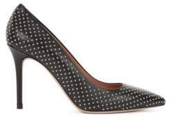BOSS Hugo High-heeled pumps in Italian lambskin stud detailing 6.5 Black
