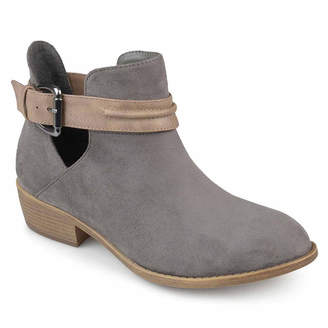 Journee Collection Womens Mavrik Bootie Block Heel Buckle