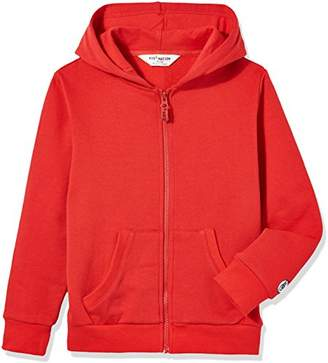 Kid Nation Kids' Solid Brushed Fleece Zip Hooded Sweatshirt in 8 Color L