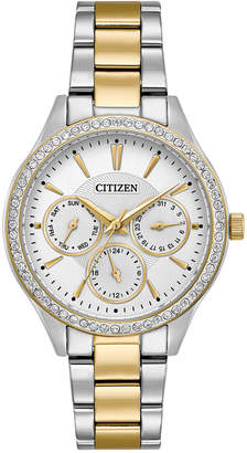 Citizen Women's Two-Tone Stainless Steel Bracelet Watch 36mm ED8169-55A, A Macy's Exclusive $225 thestylecure.com