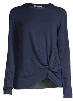 Stateside Knot Front Fleece Top