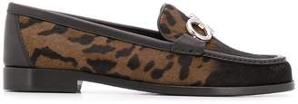 Salvatore Ferragamo faded leopard loafers