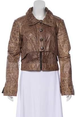 Elise Overland Distressed Cropped Jacket