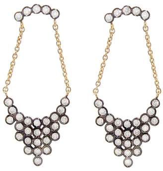 Yannis Sergakis Adornments Blackened Charnières Earrings with Diamonds - Yellow Gold