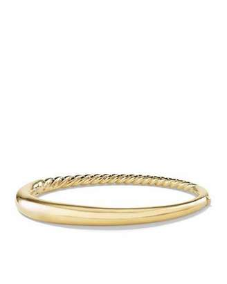 David Yurman 6.5mm Large Pure Form Hinge Bracelet in 18K Gold