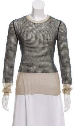 Alexander Wang Sheer Long Sleeve Sweater