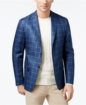 Lauren Ralph Lauren Men's Classic-Fit Navy Windowpane Sport Coat $295 thestylecure.com