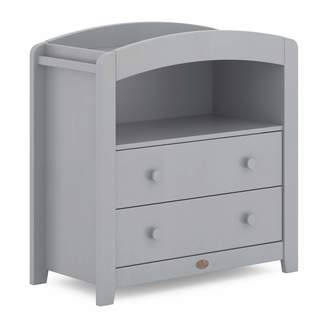Boori Curved 2 Drawer Chest Changer Wood Pebble