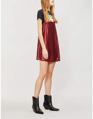 Free People Time To Shine sequinned mini slip dress