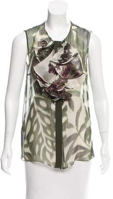 Giambattista Valli Sleeveless Semi-Sheer Top