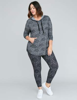 Lane Bryant Spa Active Sweatshirt Hoodie with Pocket Ruffle