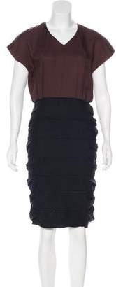 Fendi Embellished Midi Dress