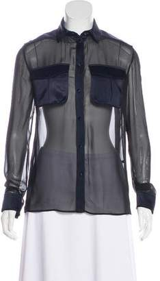Tom Ford Silk Contrast Blouse