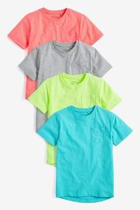 Next Boys Multi Fluro T-Shirt Four Pack (3-16yrs)