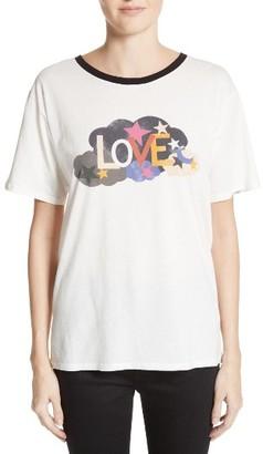 Women's Saint Laurent Love Graphic Cotton Tee $350 thestylecure.com