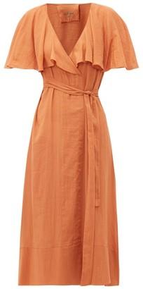 Loup Charmant Zelda Cotton Wrap Dress - Womens - Brown