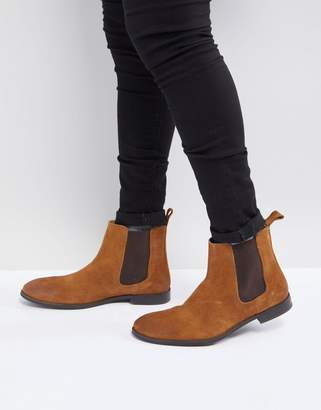 Asos Design Chelsea Boots in Tan Suede