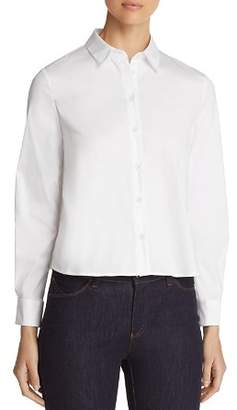Emporio Armani Pleated Cropped Button-Down Shirt
