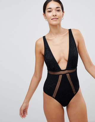 MinkPink Simone Cut Out Plunge Swimsuit