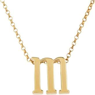 """Generic Initial """"m"""" gold over sterling silver pendant"""