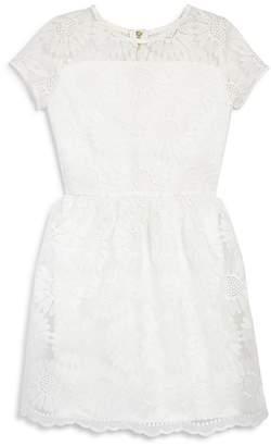 Aqua Girls' Sunflower Embroidered Dress, Big Kid - 100% Exclusive
