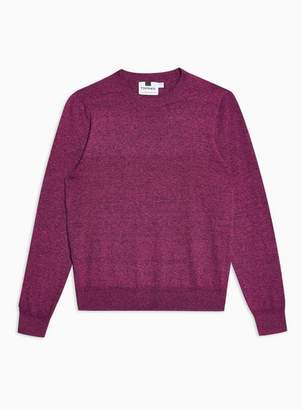 Topman Mens Pink Twist Hem Stitch Sweater